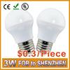 High Luminance 0.3/piece 3W high power led light bulb