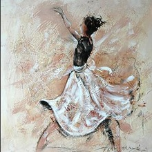 Abstract Beautiful Dancing Girl Oil Painting For Wall Art