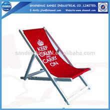 Fashion folding wooden beach deck chair/ reclining chair