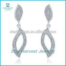 High quality cz jewelry tear earring