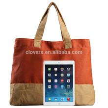 Summer Orange Women Canvas Handbag
