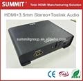 Audio óptico hdmi convertidor hdmi a hdmi+ 3.5mm stereo+ toslink convertidor