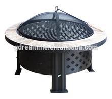 "23"" Decorative ceramic tile outdoor fire pit"