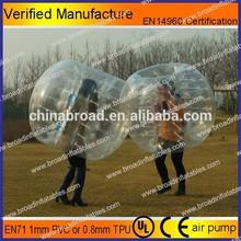 PVC or TPU soccer bubble