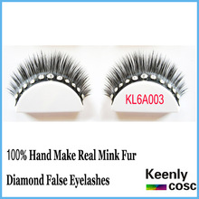 Super quality! Decorative false mink eye lash diamond blink mink lashes in tray individual eyelash Make-up