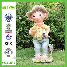 Lovely Boy Statue Resin Children Gift Items