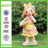 Resin Child Craft Little Girl Garden Statues