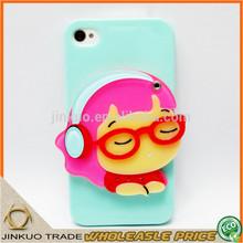 listen music acrylic 5 inch mirror mobile phone bags & cases sj0017