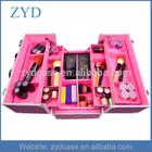 Pink Makeup Cosmetic Train Case Lockable Jewelry Travel Aluminum Organizer Box ZYD-HZMmc005