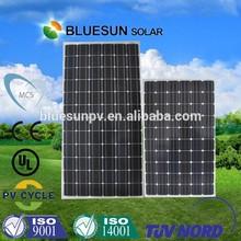 Bluesun high quality mono240w sunpower solar panel price