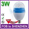 3W E27 85-260V Full Color LED RGB Rotating Lamp christmas bulb