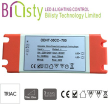 30w triac dimmable led driver compatible with leading & trailing edge dimmer, triac led power supply with CE