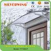 Popular Elegant DIY polycarbonate aluminium door window canopy size 1000x1500mm