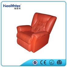 European modern beauty genuine leather reclining loveseat sofa