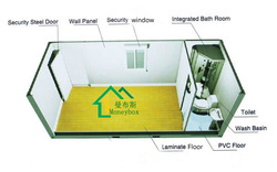 Foldable container portacabin shop/Container House/Home/Office