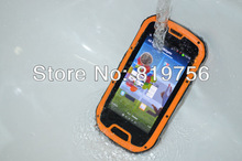 Fashion Style NFC S09 smart mobile rugged waterproof NFC Walkie-talkie active dual sim phone