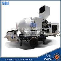 Convenient operation!!JZC350 cement mixer trailer with pump for sale