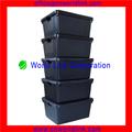 heavy duty de stockage grande boîte en plastique couvercle séparé