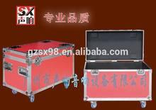 red color flight case for speaker cable case