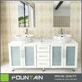 Charnières de porte en verre design italien moderne blanc, autoportante. armoire de toilette