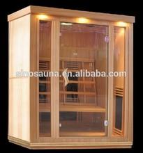 3 person pure ceramic infrared sauna house with CE/ETL/TUV/ROSE certificate