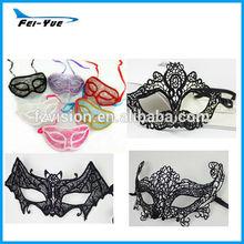 Italy Fashion Filigree Black Half Face Lace Mask