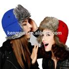 custom Faux Fur Earflap Caps,Russia trapper hat,waterproof trapper cap