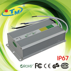IP67 led SMPS 12V ac to dc 20A constant voltage led driver 240W waterproof transformer with CE and FCC