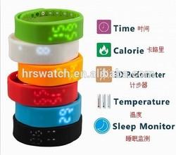 New design promotion Sleep Monitor faceless led Sport watch