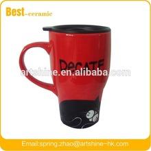 Good quality hot sell china ceramic travel mug with lid