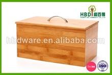 Eco-friendly wood bamboo bread box, bread bin, bread store container