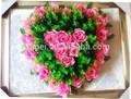 Real toque atacado da forma do coração artificial grinalda de flores para funeral