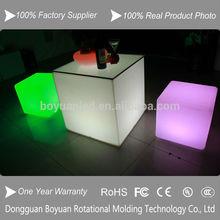 Hot sale led lighting bar cub stool with remote control / bar stool / LED cube