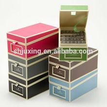High Grade Stackable Color Cardboard Storage Boxes