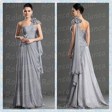 Cxl2700 une fleur appliqued paillettes épaule simple robe du soir
