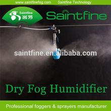 Dry fog moistening system