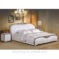 Euro design mobilier de chambre de luxe élégant en cuir blanc, taizi02 lit réglable électrique