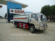 Foton Mini 5000 litres small fuel tanks trucks, LHD / RHD fuel dispensing trucks