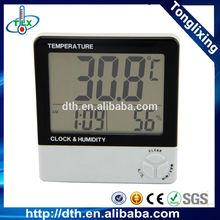 China advertising digital thermometer hygrometer , big screen thermometer hygrometer , clock thermometer