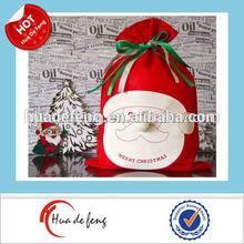 Big custom printed christmas Santa Claus bag for packing