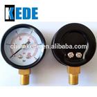 high quality bourdon tube bottom pressure gauge