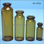 amber medical tubular glass vial