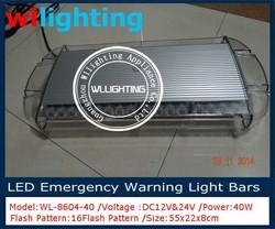 40 led warning strobe emergency lightbar 12v/24v dc 1w/led big power led light