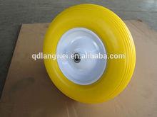 heavy duty steel rim wheelbarrow wheels 4.00-8 pu wheel