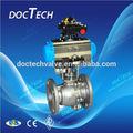 3-PC válvula de esfera da Flange com atuador pneumático boa qualidade e preço competitivo a partir de Alibaba