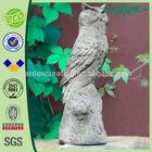 """22"""" Concrete Standing Owl Animal Sculpture for Garden Decor."""