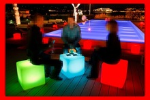 low led chair led ice bucket table led bar furniture sets,Illuminated flashing color changing led cube chair