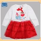 (H4688) 2-6Y nova brand wholesale children's boutique clothing long sleeve baby girl frocks designs kids birthday dresses