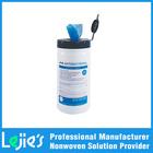 2014 ISO9001 certified Polyester viscose Custom logo tube wet wipe