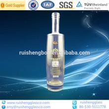 Wholesale 750ml clear glass bottles for oil/ wine/ liquor